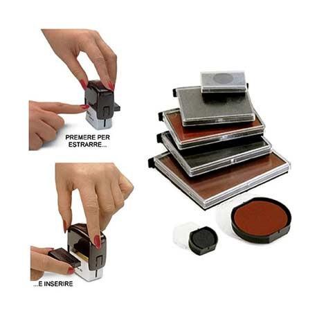 Cuscinetto inchiostrato per timbri automatici